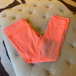 Orange workout leggings